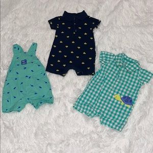 $8 Sale Carters Boys Size 3M Rompers